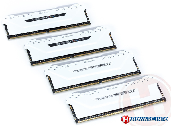 Corsair Vengeance RGB Pro White 32GB DDR4-3200 CL16 quad kit